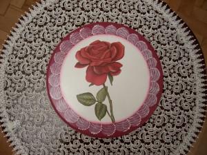 Obrazek z czerwoną różą